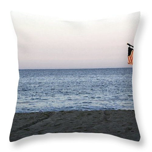 Beach Throw Pillow featuring the photograph Tribute by Mary Haber