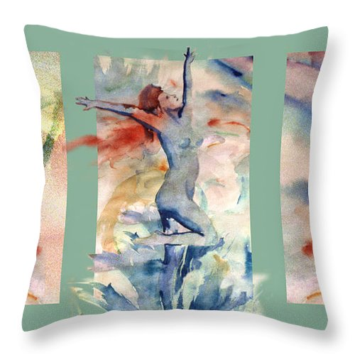 Abstract Throw Pillow featuring the painting Tribute by Steve Karol