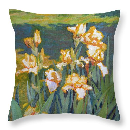 Impressionism Throw Pillow featuring the painting Trimmed In Gold by Keith Burgess