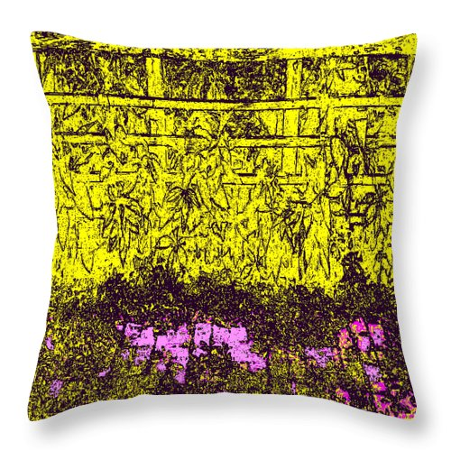 Square Throw Pillow featuring the digital art Trinity by Eikoni Images