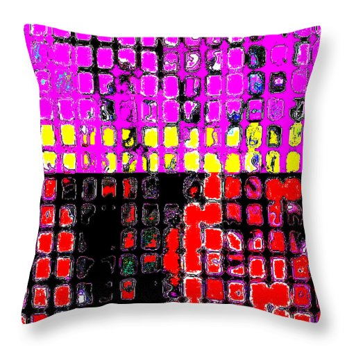 Square Throw Pillow featuring the digital art Trio For Trumpet, Alto Saxophone And Flute by Eikoni Images
