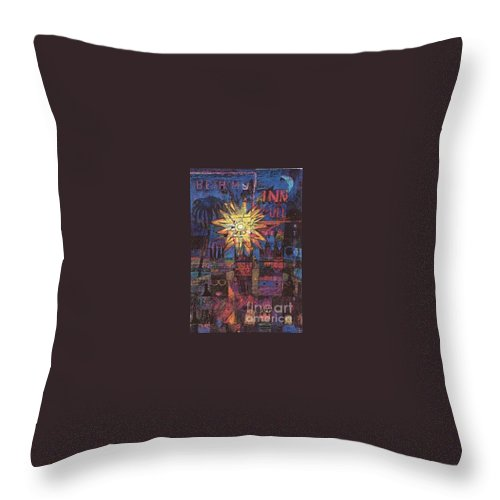 Three Kings Throw Pillow featuring the digital art Triple Kings II by Andy Mercer