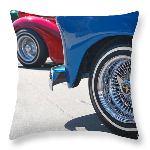 Throw Pillow featuring the photograph Triple Parked Number Two by Heather Kirk
