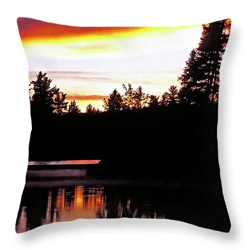 Landscape Throw Pillow featuring the photograph Tripping II by Steve Harrington