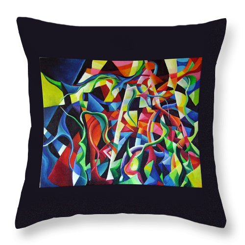 Tristan Und Isolde Richard Wagner Vorspiel Prelude Gottfried Von Strassburg Middle High German Epic Throw Pillow featuring the painting Tristan by Wolfgang Schweizer
