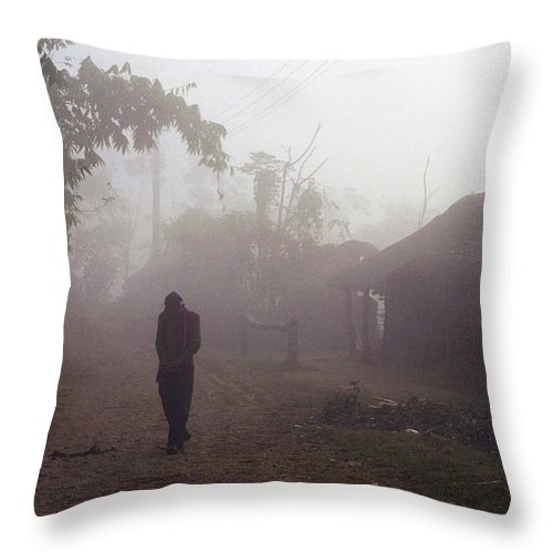 Nepal Throw Pillow featuring the photograph Tristesse by Patrick Klauss