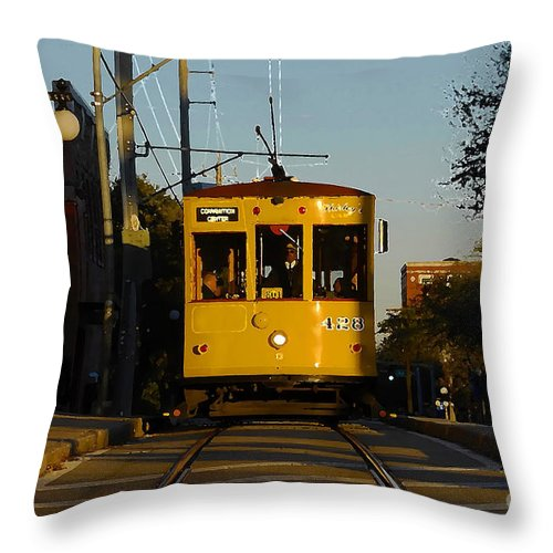 Trolley Throw Pillow featuring the photograph Trolley Ride by David Lee Thompson