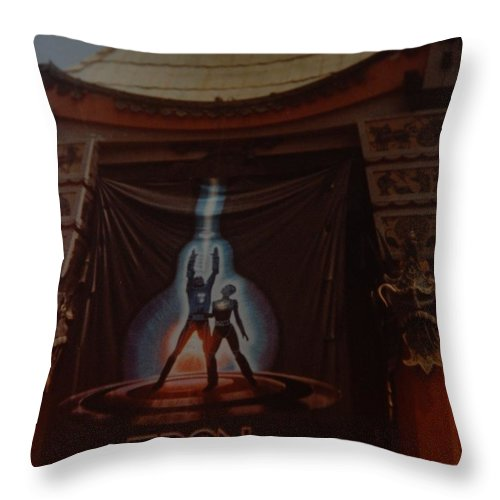 Grumanns Chinese Theater Throw Pillow featuring the photograph Tron by Rob Hans