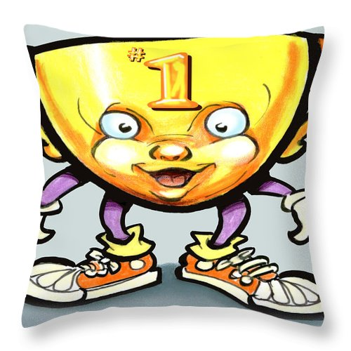 Trophy Throw Pillow featuring the digital art Trophy by Kevin Middleton