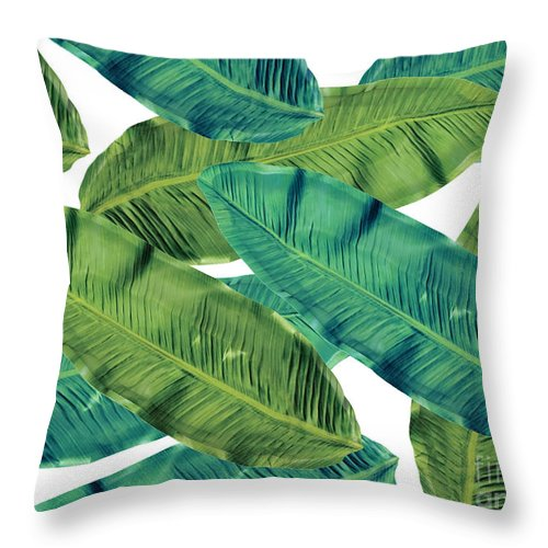 Summer Throw Pillow featuring the digital art Tropical Colors 2 by Mark Ashkenazi