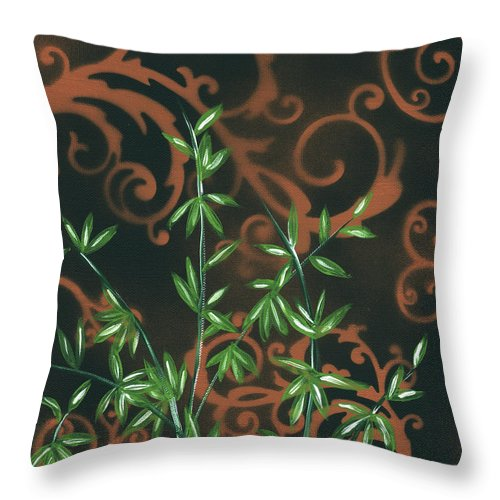 Wall Throw Pillow featuring the painting Tropical Dance 2 By Madart by Megan Duncanson