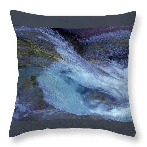 Nature Throw Pillow featuring the photograph Tropical Flowing Waters by Kerryn Madsen- Pietsch