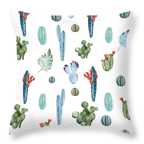 Summer Throw Pillow featuring the painting Tropical Forever 2 by Mark Ashkenazi