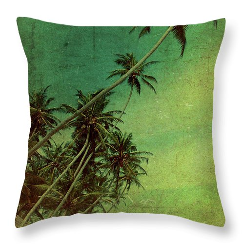 Palm Throw Pillow featuring the photograph Tropical Vestige by Andrew Paranavitana
