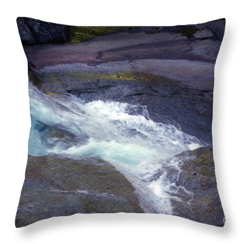 Flowing Throw Pillow featuring the photograph Tropical Water Bird Josephine Falls by Kerryn Madsen- Pietsch