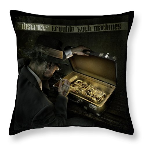 Throw Pillow featuring the digital art Trouble With Machines by District 97