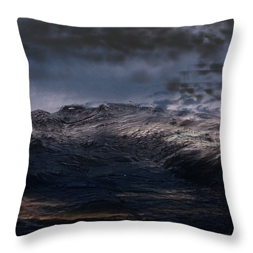 3ds Max Throw Pillow featuring the digital art Troubled Waters by James Barnes