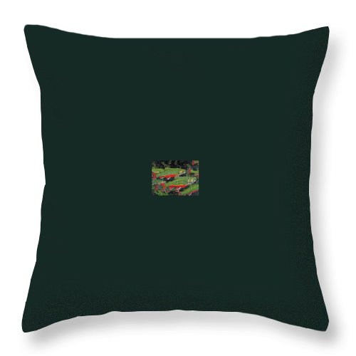 Art Throw Pillow featuring the painting Trout Art Brook Trout Fish Artwork Giclee Wildlife Underwater by Baslee Troutman