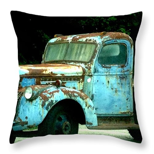 Throw Pillow featuring the painting Truck by Lord Frederick Lyle Morris - Disabled Veteran