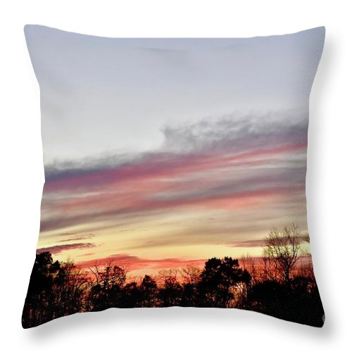 Amazing Sunset Throw Pillow featuring the photograph True Colors by Jeramey Lende
