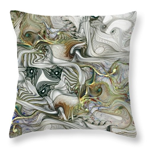 Fractal Throw Pillow featuring the digital art True Enough by NirvanaBlues