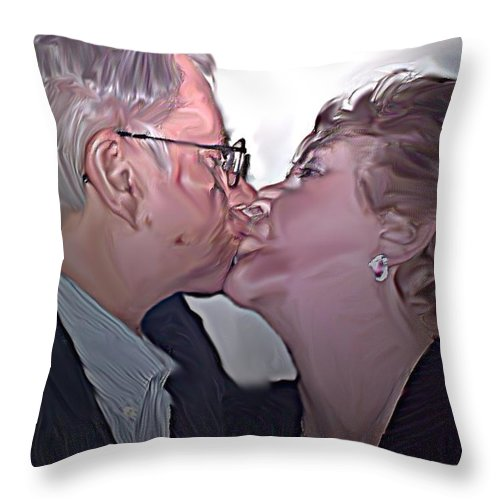 People Throw Pillow featuring the painting True Love by Crystal Webb