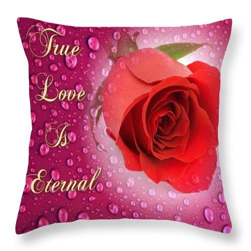 True Throw Pillow featuring the digital art True Love Is Eternal by Clive Littin