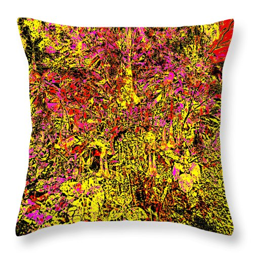 Square Throw Pillow featuring the digital art Trumpets by Eikoni Images
