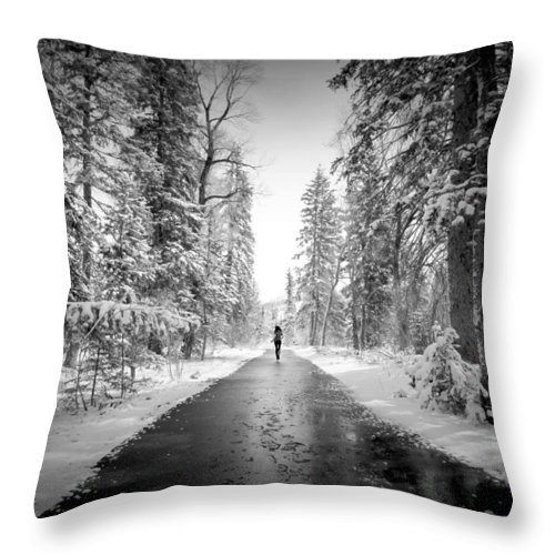 Snow Throw Pillow featuring the photograph Trying To Escape The Snow by Danielle Marie
