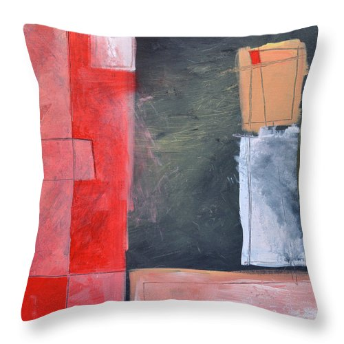 Pink Throw Pillow featuring the painting Trying To Get My Head Around Pink by Tim Nyberg