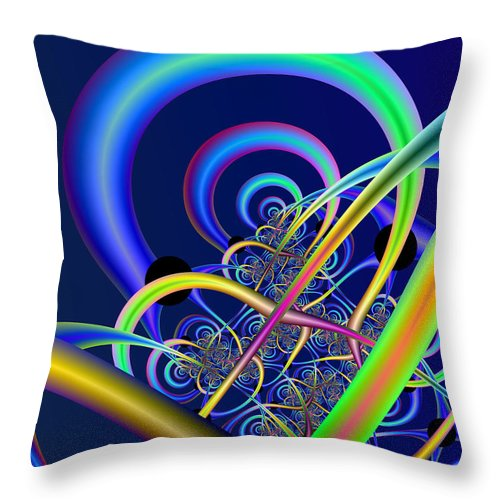 Fractal Throw Pillow featuring the digital art Tubules by Frederic Durville