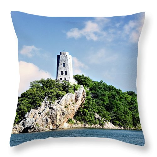 devil's Kitchen Conglomerate Throw Pillow featuring the photograph Tucker Tower 2 by Lana Trussell