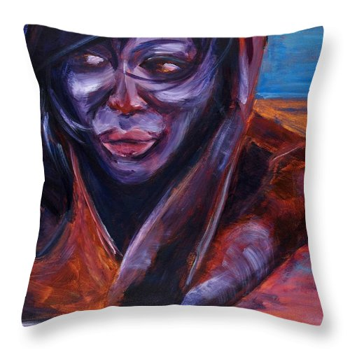 Girl Throw Pillow featuring the painting Tuesday by Jason Reinhardt