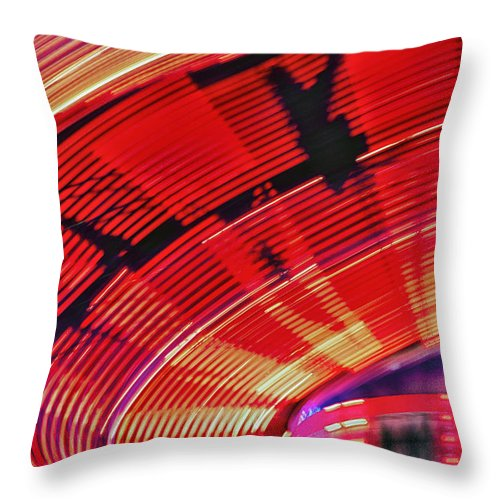 Amusement Throw Pillow featuring the photograph Tulare Fairgrounds by John Swartz