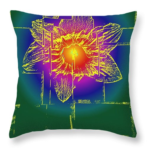 Tulip Throw Pillow featuring the digital art Tulip by Tim Allen