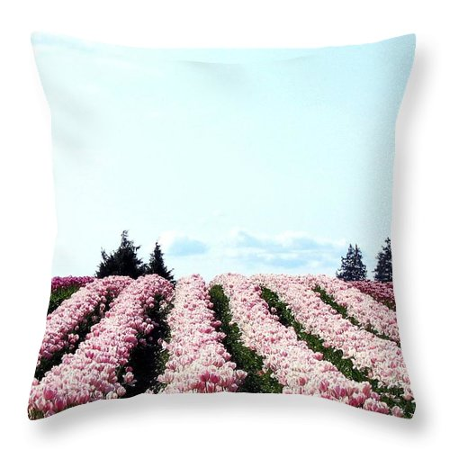 Agriculture Throw Pillow featuring the photograph Tulip Town 10 by Will Borden