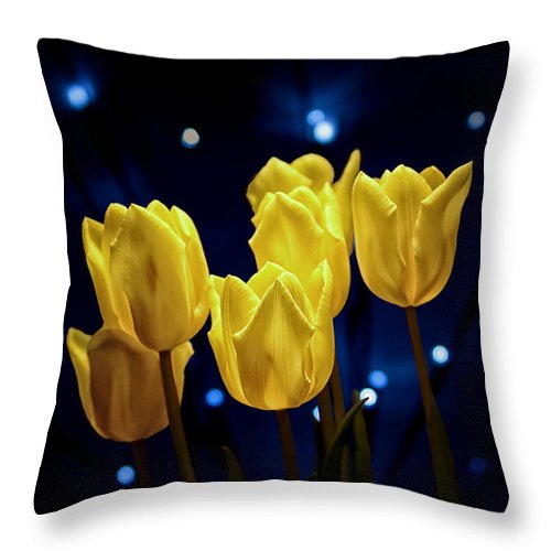 Arrangement Throw Pillow featuring the photograph Tulip Twinkle by Tom Mc Nemar