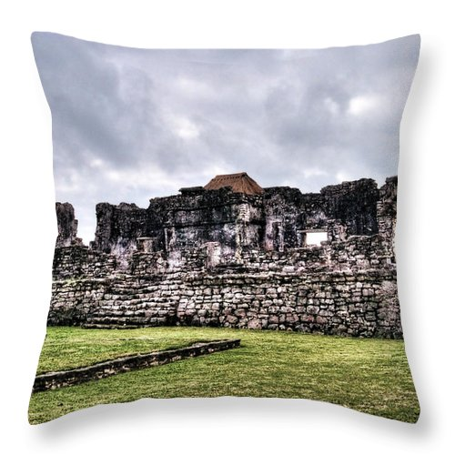 Tulum Throw Pillow featuring the photograph Tulum Ruins by Tammy Wetzel