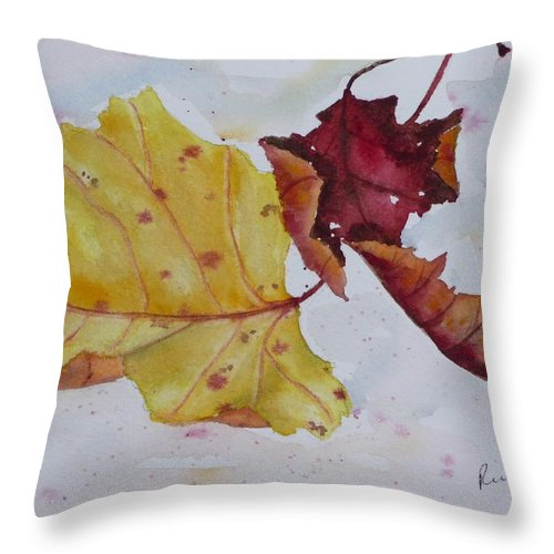 Fall Throw Pillow featuring the painting Tumbling by Ruth Kamenev