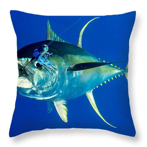 Tuna Throw Pillow featuring the photograph Tuna Magic by Bryan Toney