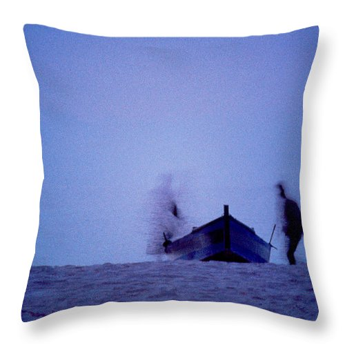 Moon Throw Pillow featuring the photograph Tunesian Night by Michael Mogensen