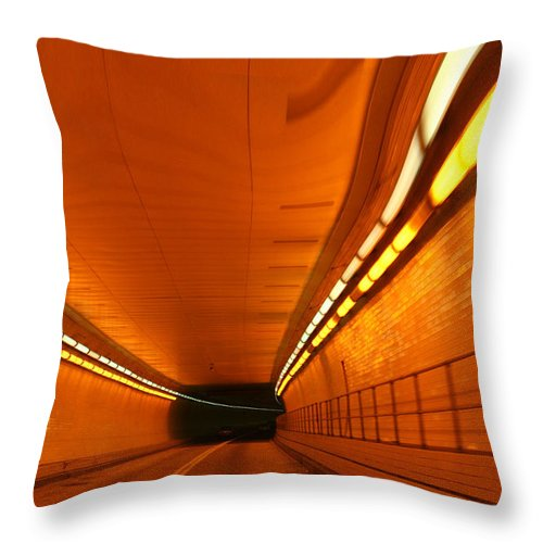 Tunnel Throw Pillow featuring the photograph Tunnel by Linda Sannuti
