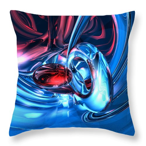 3d Throw Pillow featuring the digital art Tunnel Lust Abstract by Alexander Butler