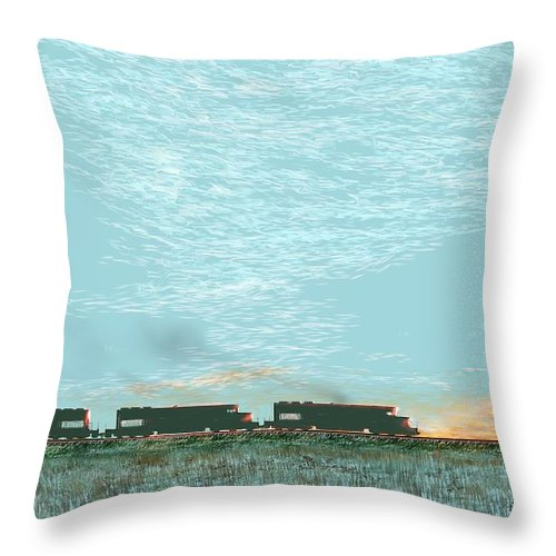 Tunnel Motors Throw Pillow featuring the digital art Tunnel Motors by Kerry Beverly