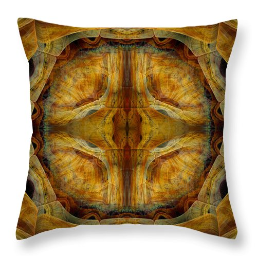 Fractal Throw Pillow featuring the digital art Tunnel Of Separation by Amorina Ashton