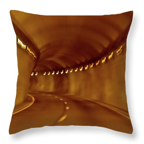 Tunnel Throw Pillow featuring the digital art Tunnel Vision Daze by DigiArt Diaries by Vicky B Fuller