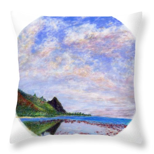 Rainbow Colors Pastel Throw Pillow featuring the painting Tunnels Vision by Kenneth Grzesik