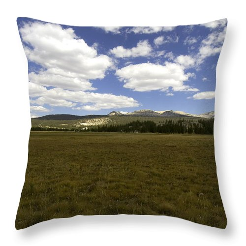 Yosemite Throw Pillow featuring the photograph Tuolumne Meadows by Amanda Kiplinger
