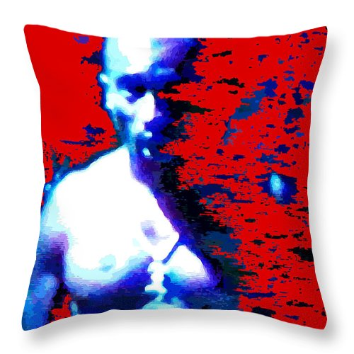 Portraits Throw Pillow featuring the digital art Tupac Unleashed by Walter Oliver Neal