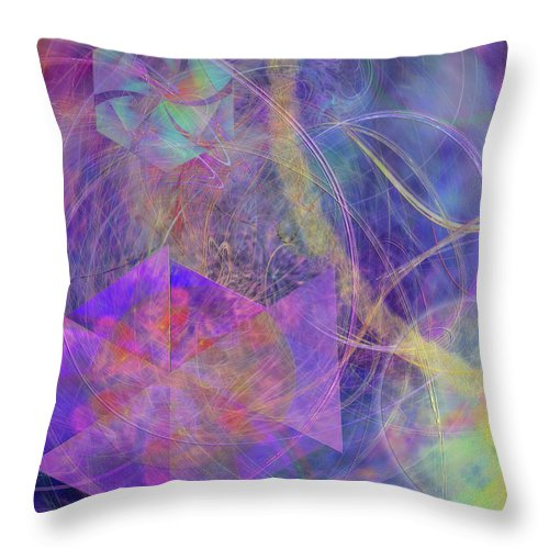 Turbo Blue Throw Pillow featuring the digital art Turbo Blue by John Beck